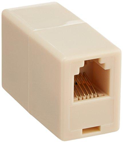 CableWholesale RJ11/RJ12, 6P6C Straight Telephone Inline Coupler (MC-6P6C-RE)