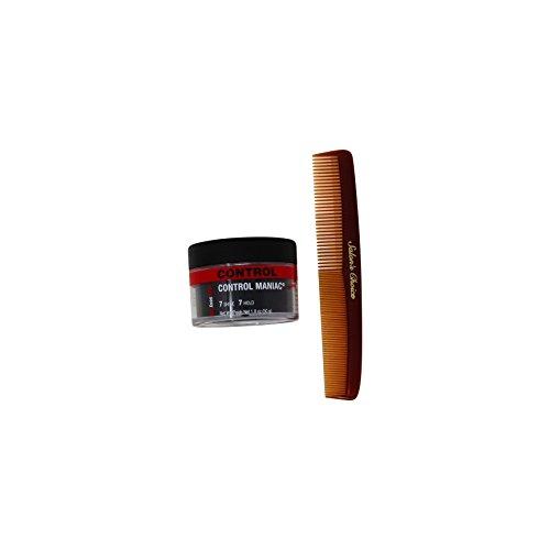 Bundle - 2 Items : Style Sexy Hari Control Maniac Wax, (7 Shine- 7 Hold), 1.8 oz + Salon's Choice Barber Comb
