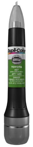 (Dupli-Color ATY1603 Dark Green Mica Toyota Exact-Match Scratch Fix All-in-1 Touch-Up Paint - 0.5 oz.)