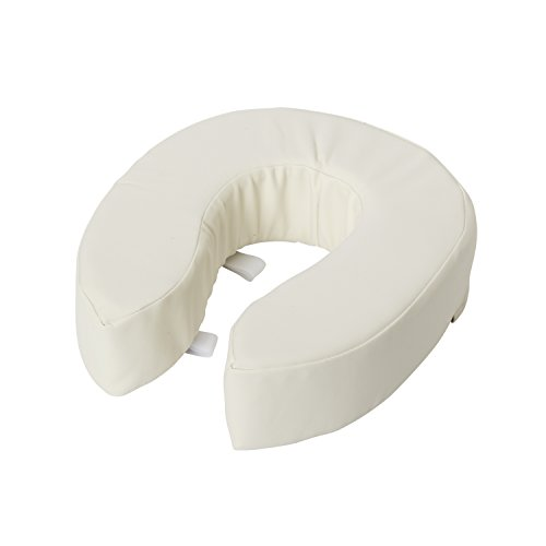Vinyl Toilet Seat - DMI 4-Inch Vinyl Foam Toilet Seat Cushion Adds Extra Padding to Your Toilet Seat, White