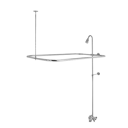 DANCO Add-A-Shower Bathtub to Shower Conversion Kit for Clawfoot Tubs, Polished Chrome, (52406)