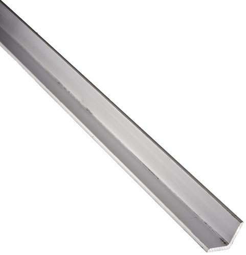 6061 Aluminum Angle, Unpolished (Mill) Finish, Annealed, 0 (Annealed) Temper, ASTM B308/AMS QQ-A-200, Equal Leg Length, Rounded Corners, 5'' Leg Lengths, 0.500'' Wall Thickness, 48'' Length by Small Parts