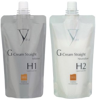 Yuko G-Gream Straight Natural-Coarse Hair - Solution & Neutralizer Set (H1 / H2) (Straight Solution)