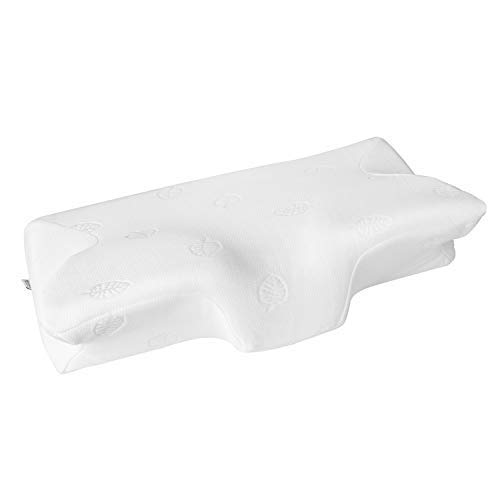 MARNUR 23.5×14.5×5.5 in Cervical Pillow Contour Memory Foam Orthopedic Pillow for Neck Pain Sleeping for Side Sleeper Back Sleeper Stomach Sleeper+White Pillowcase(1 PCS) by MARNUR