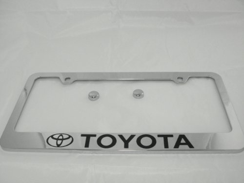 Toyota Chrome License Plate Frame with Cap (License Plate Frame Toyota compare prices)