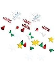 LIXBD Kerst Confetti Vrolijk Ctristmas Sneeuwvlok Pailletten Kerstboom Confetti Tafel Scatter voor Xmas Vakantie Party Decoratie 30g