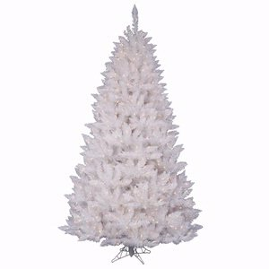 Vickerman Sparkle White Spruce Tree 400 LED Light, 6.5-Feet by 46-Inch ()