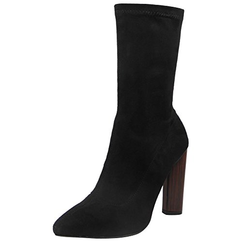 Loud Look - tacones altos mujer Black Suede