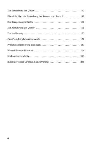 Lektürehilfen Johann Wolfgang Von Goethe Faust Erster Und Zweiter