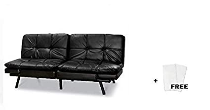 Black Suede + Freebies, Wooden Frame with Durable Metal Legs Mainstay Wooden Memory Foam Featuring a Clean-Lined Wooden Frame with Durable Metal Legs