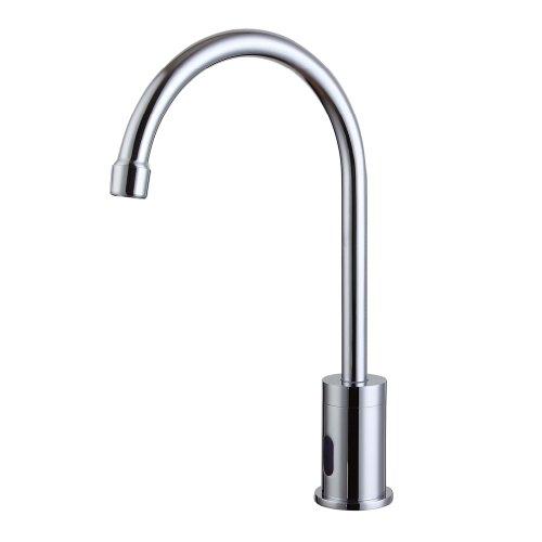 Smarstar JT-727 Contemporary Brass Automatic Sensor Chrome Finish Bathroom Sink Faucet Tap Input DC 6V