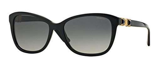 Versace 4293B GB1/T3 Noir 4293B Oval Sunglasses Polarised Lens Category 3