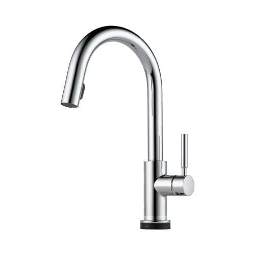 Brizo 64020LF-PC Solna Kitchen Faucet Single Handle with Multi-Functional Pull-Down Sprayer and Smart Touch, Chrome ()