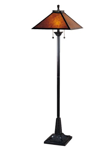 Antique Mica Lamp Table - Dale Tiffany TF100176 Mica Camelot Floor Lamp, Mica Bronze and Mica Shade