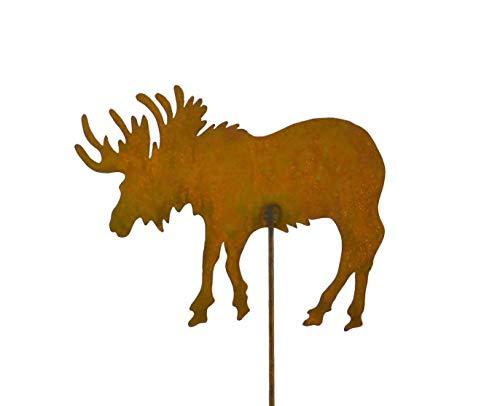 (Moose Metal Garden Stake, Lawn, Garden, Patio Decor, Yard)