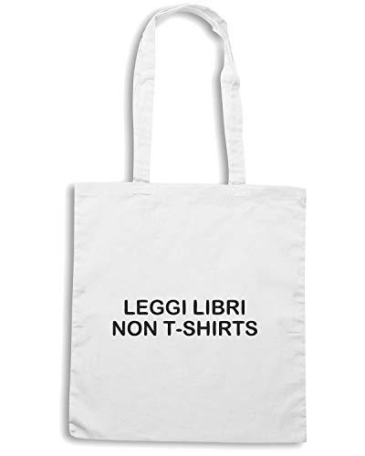 LIBRI I Bianca TDM00158 Borsa LEGGI Shirt Shopper NON Speed 0wZxTqRYnC
