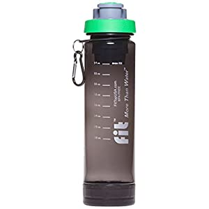 FIT Top Filtering Water Bottle, Green/Smoke, 24-Ounce