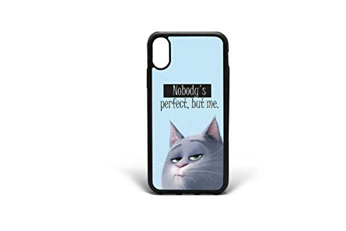 Kaidan Nobody's Perfect but me iPhone X XR XS Max Fat Kitten 5/5s/SE Funny Cat Case iPhone 7 8 6/6s Plus Samsung Galaxy Note 9 8 Samsung S9 S8 S10 Plus S10E Pet Life Google Pixel 3 Case Quote 2DaO662