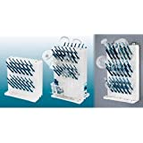 Bel-Art Products F18933-0014 Lab-Aire II Drying Rack, Wall Mount, Single-Sided, 2 Tier, 38 Pegs
