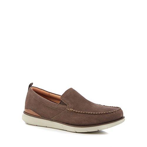 Clarks Men Brown Suede 'Edgewood' Slip-On Shoes