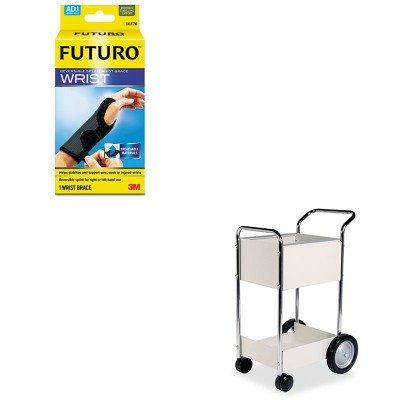 KITFEL40924MMM10770EN - Value Kit - Fellowes Steel Mail Cart (FEL40924) and Futuro Adjustable Reversible Splint Wrist Brace (MMM10770EN) by Fellowes