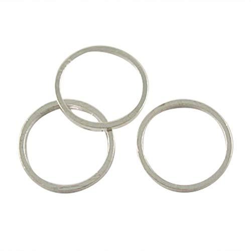 PH PandaHall 2000pcs Brass Linking Rings Platinum Ring Circle Pendant for Dangle Pendants Earrings Jewelry Making Key Chain