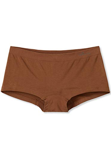 Boody Body EcoWear Women's Boyleg Briefs Seamless Boyshort Underwear Made from Natural Organic Bamboo Viscose – Soft Breathable Eco Fashion for Sensitive Skin - Nude 4, Small, Two Pack