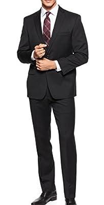 Calvin Klein Mens 40S Two Button Notch-Collar Suit Set