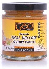 Geo Organics Thai Yellow Curry Paste (No Added Sugar) Vegan 190g