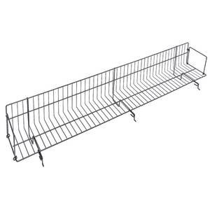 Black Metal DVD Shelves 48 x 5 x 7 ()