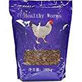 Healthy worms Mealworms - High-Protein Mealworm Treats - Perfect for Your Chickens, Ducks, Wild birds, Turtles, Hamsters, Fish, and Hedgehogs