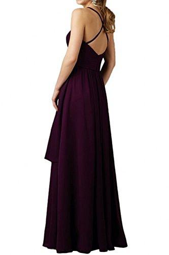 Elegant Ballkleider La Chiffon Violett Abendkleider Formal Partykleider Brautjungfernkleider Langes Festlichkleider mia Braut 0K04tq