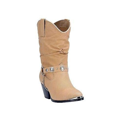 - Dingo Women's Olivia Slouch Boot,Tan,6 M US