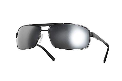 Dillon Optics Colt Sunglasses Polarized (Shiny Gun Metal, Silver - Sunglasses Dillon