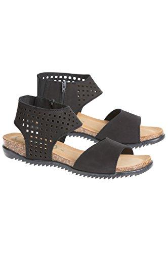 Bos. & Co. Womens Claudina Leather Sandals Black O55VFcFj