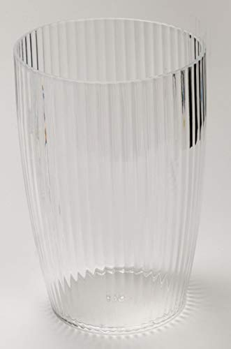Ben & Jonah Ribbed Acrylic Waste Basket in Clear Splash Collection ()