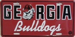 University of Georgia Bulldogs Collegiate Embossed Aluminum Automotive Novelty License Plate Tag Sign (Georgia License Plate)