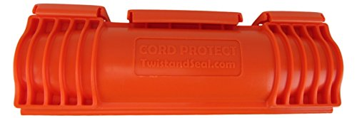 Twist and Seal Cord Protect 6.5 x 2 in. Heavy Duty Cord Protection Orange TSCP-Or-BL ()