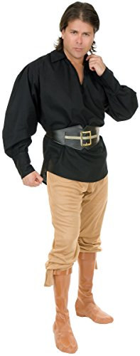 Unisex Pirate Shirt Costume - Large - Chest Size -