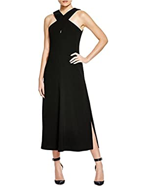 Theory Womens Mambert Sleeveless Mid-Calf Formal Dress