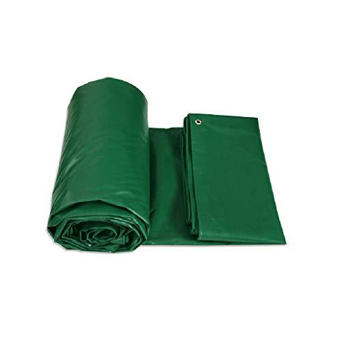 Mei Xu Waterproof Sunshade Heavy Duty Tarpaulin Double Waterproof, Tarpaulin Cover, Rip And Tear Proof Tarpaulin With Grommets And Reinforced Edges/Green / 4 sizes @ (Size : 4m4m)