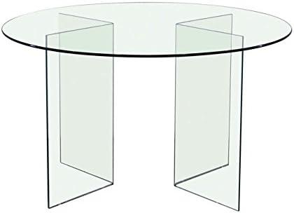 Mesa redonda de cristal transparente cm D120 X H75: Amazon.es: Hogar
