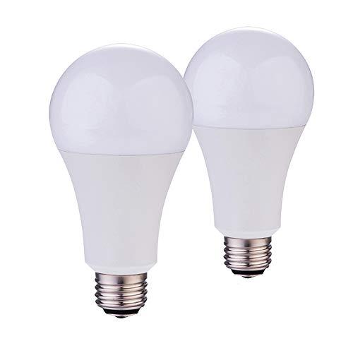 - 5000K Daylight A21 3-Way LED Light Bulb 50w/100w/150w Equivalent 800/1500/2200lumens CRI 80+ (5000K | 2PACK)