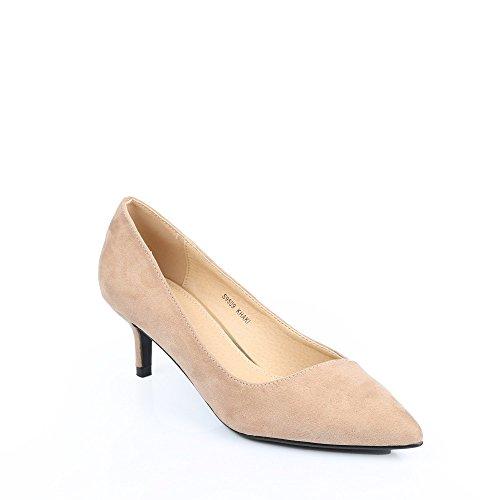 Ideal Shoes Glitzerschuh anzufassen Weich Judit Taupe