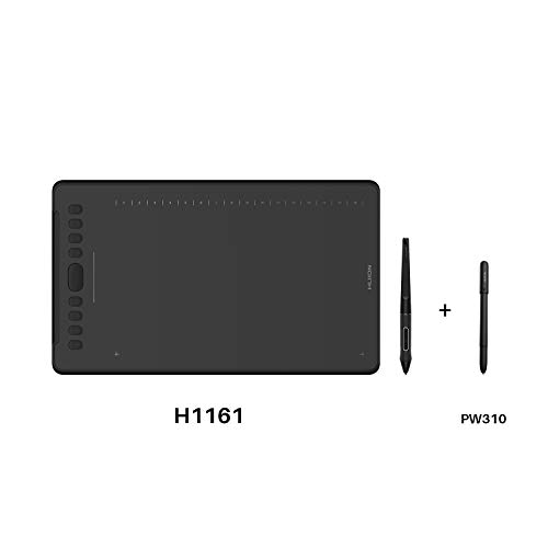 Huion Inspiroy H1161 Graphics Drawing Tablet Android Devices Supported with PW100 and Huion Scribo PW310