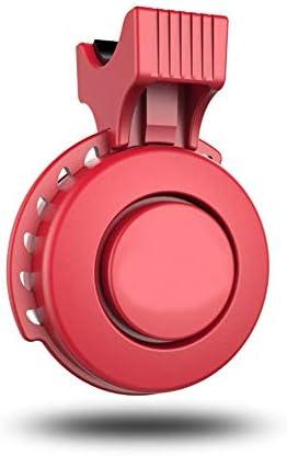 自転車ベル USB充電式防塵自転車ベルマウンテンバイクロードバイク安全乗馬 自転車のベルリング (色 : 赤, サイズ : Free size)