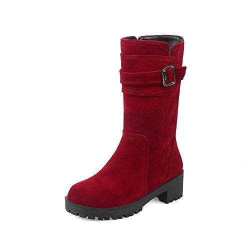 mujer cerrados Para Zapatos 1TO9 Rojo tCpXx