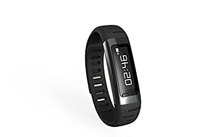 Toprime®U9 Fitness Tracker Sleep Monitor Pedometer Watch Anti-lost Bluetooth Sync,Black