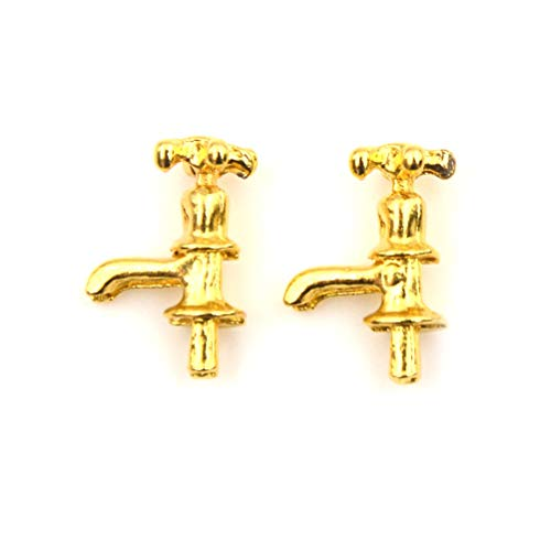 2pcs 1:12Dollhouse DIY Cabin Miniature Model Material Accessories Metal Faucet H