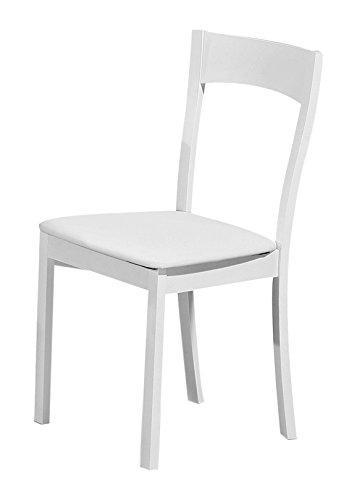 Sedie In Legno Rivestite In Pelle.Cribel Set 4 Sedie Teddy Struttura Legno Seduta Rivestita In Pelle